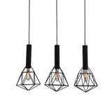 Blackband Iron Cage 3 Light Pendant in 2 Designs