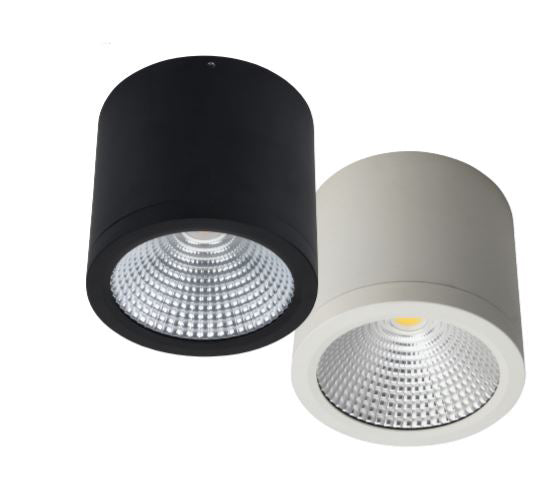 Midpoint Splash 25W Surface Mounted LED Downlight in Matt Black or White