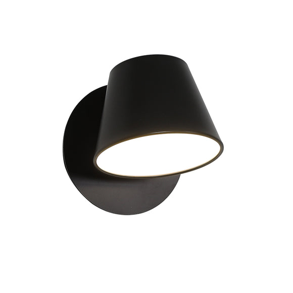 Coop 12cm Adjustable Wall Light in Black or White