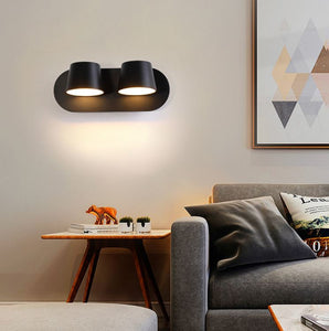 Coop Duo 26cm Adjustable Wall Light in Black or White