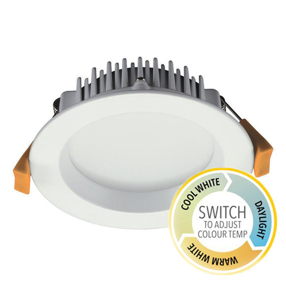 long lasting 13w dimmable downlight in white
