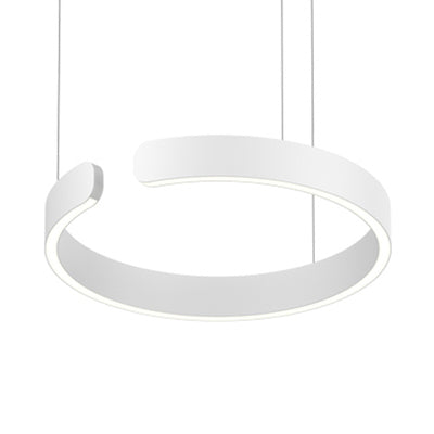 Enso White Modern Halo Pendant Light 40cm, 60cm & 80cm