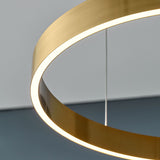 Enso Black Modern Halo Pendant Light 40cm, 60cm & 80cm