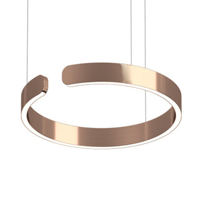 Enso Rose Gold Modern Halo Pendant Light 40cm, 60cm & 80cm