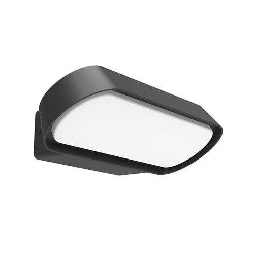 Glamor Modern Exterior LED Wall Light in Dark Grey or White