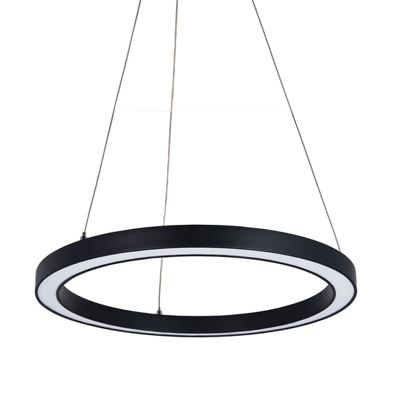 Halo II Modern 40cm LED Ring Pendant in Black or White