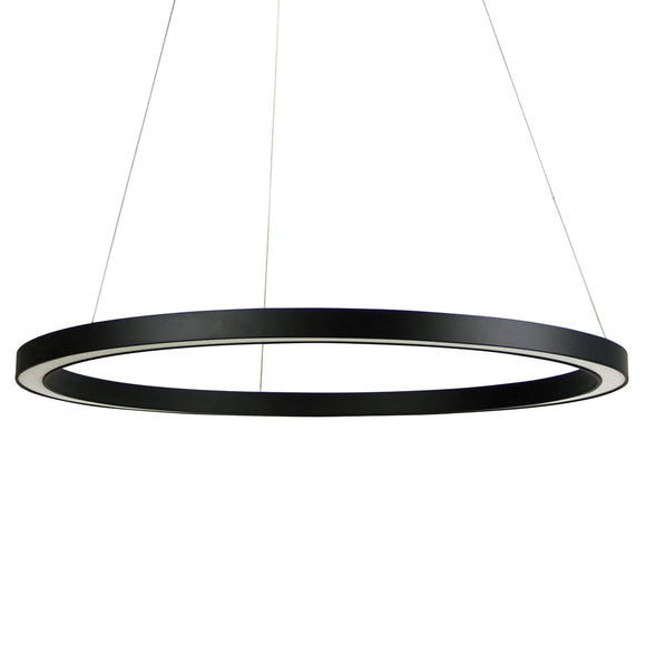 Halo II Modern 80cm LED Ring Pendant in Black or White