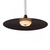 dark copper pendant shade with a warm diffused light