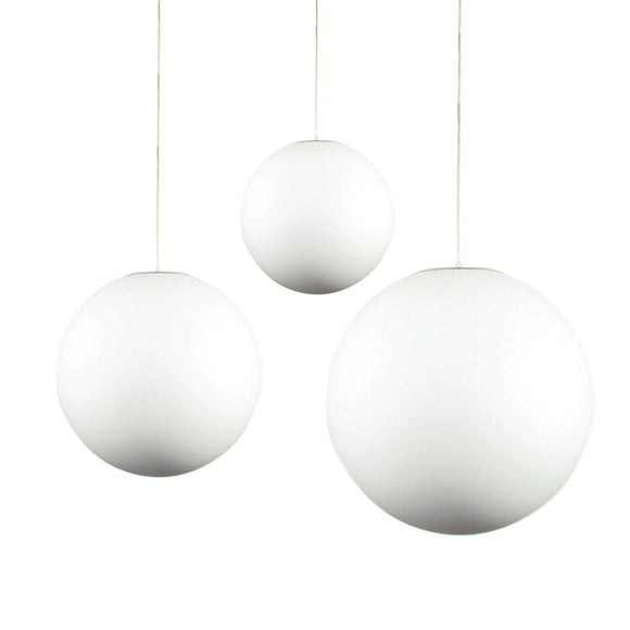 Lola White Frosted Acrylic Sphere Pendant in 30cm, 40cm or 50cm