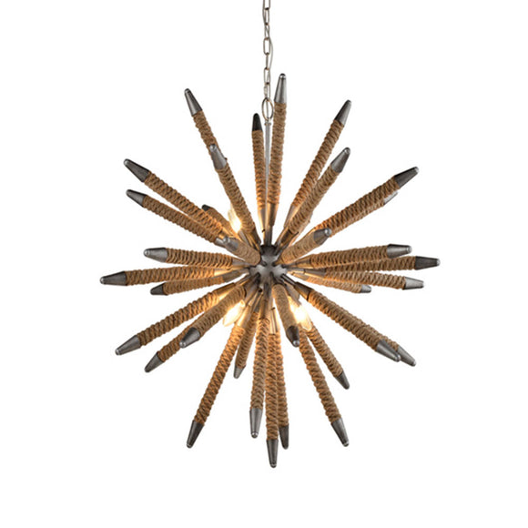 Mazza Weathered Zinc with Rope Pendant Light