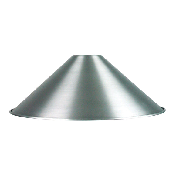 Classic 34cm Brushed Aluminium DIY Shade