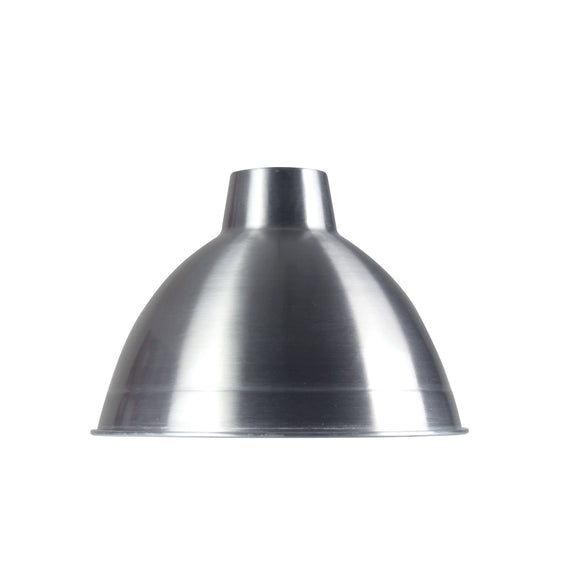 Polished Aluminium 35cm Industrial Style Shade