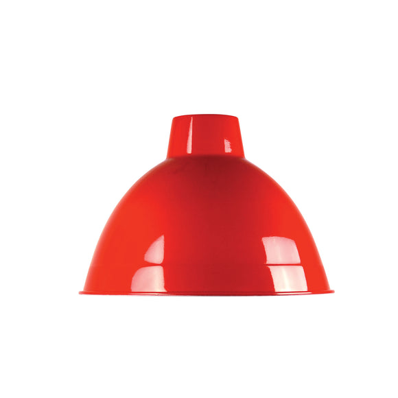 Retro Red 35cm Industrial Style Shade