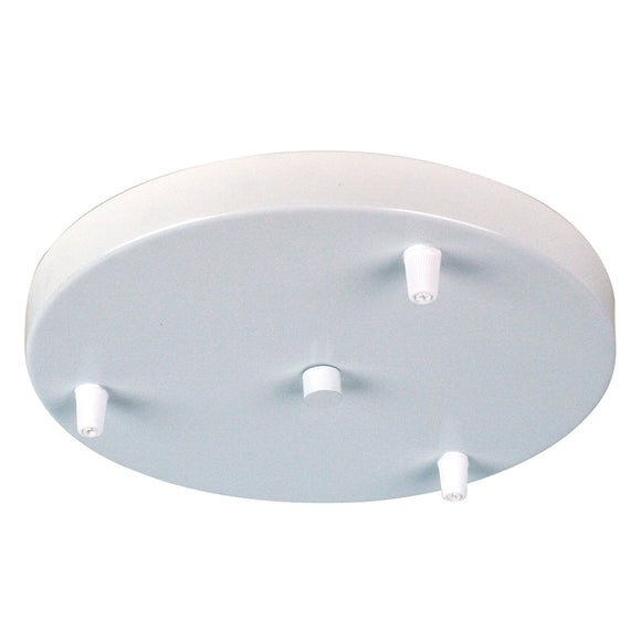 3 Pendant Canopy Plate in White, Black and Brushed Aluminium