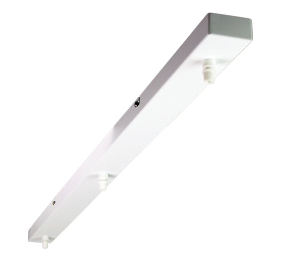 3 Pendant Canopy Plate Rail in White or Black