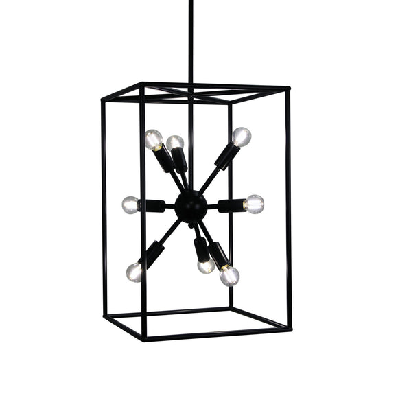 Sienna Tall 55cm Designer Box Pendant with Exposed Globes