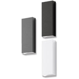 Midpoint Edge 8W Outdoor Wall Light in White Black or Dark Grey