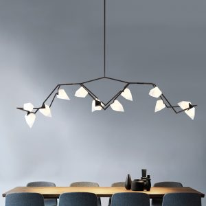 Replica Hive Pendant 12 Light Black G9 in 79cm