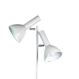 Ven Twin 150cm Retro Floor Lamp in Black, White, Chrome or Polished Chrome