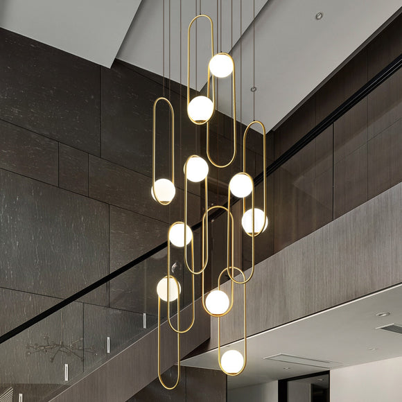 Loretta 10 Light Modern Minimalist Chandelier