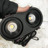 Modern-double-downlight-black-LED-adjustable-twin-down-light-cob-round-oval-recessed