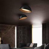 black and wood colour surface mount LED light ceiling mounted tilt oyster