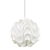 Evie Acrylic 43cm Retro Rippled Pendant