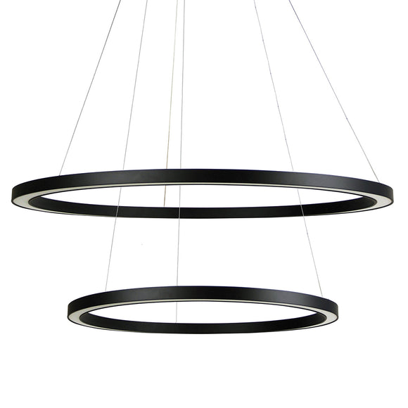 Halo II Modern 2 Tiered LED Ring Pendant