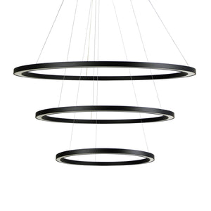 Halo II Modern 3 Tiered LED Ring Pendant