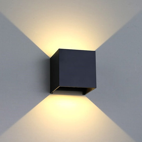 Cubus 10cm Outdoor Light Adjustable Wall Light