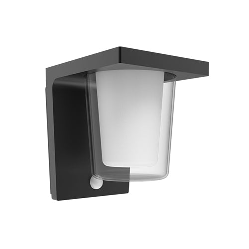 Capri 15cm Modern Exterior LED Wall Light with Sensor
