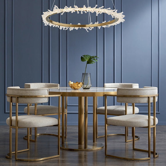 Quinn Luxe Circular Pendant Light in Various Sizes