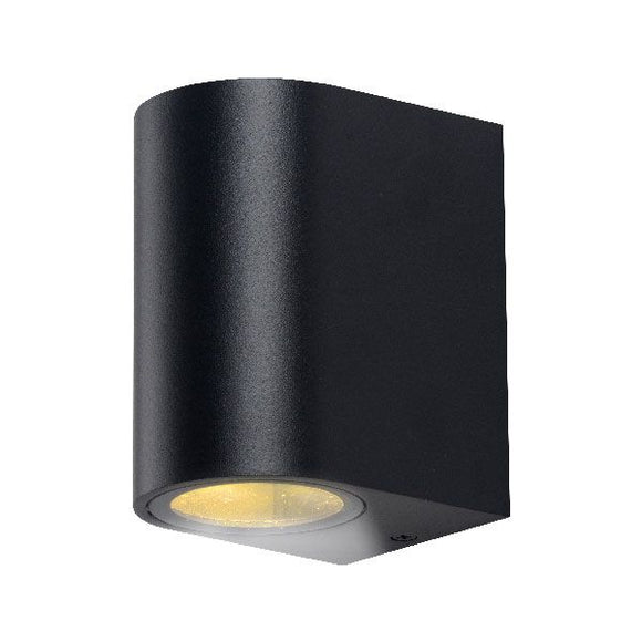 affordable outdoor wall light in black perfect from the front of home