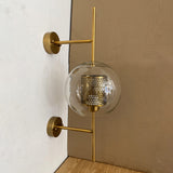 Stark Wide 20cm Luxury Interior Wall Light in Gold or Black