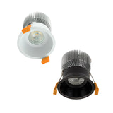 Midpoint Deep 75 10W Deepset LED Downlight in White or Black