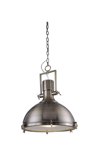 antique brass pendant light industrial chic design with fast free shipping