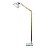 Windsor 150cm Task Floor Lamp in White or Black Shade