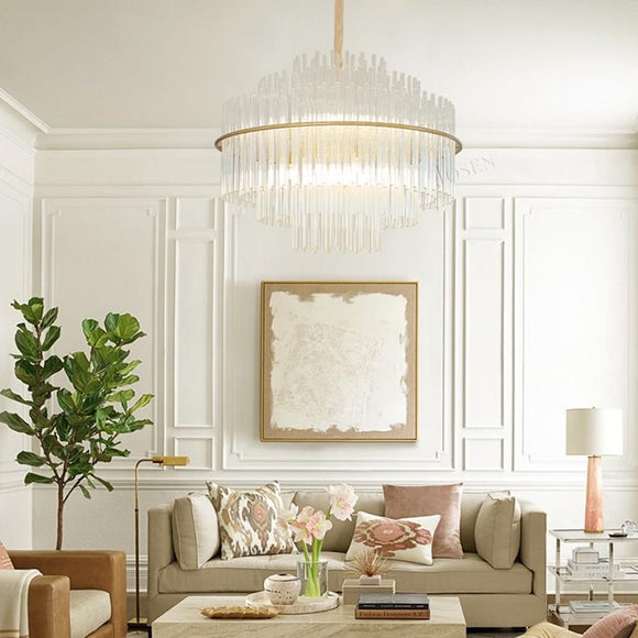 Cascade Chandelier Gold in Various sizes