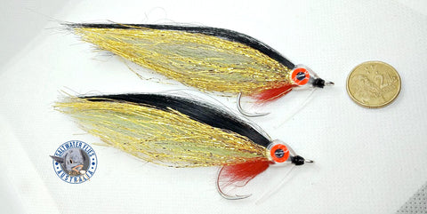 SALTWATER FLIES AUSTRALIA/SALTWATER FLY WORKSHOP CUSTOM GOLD BOMBERS WITH SMOOTH HEAD