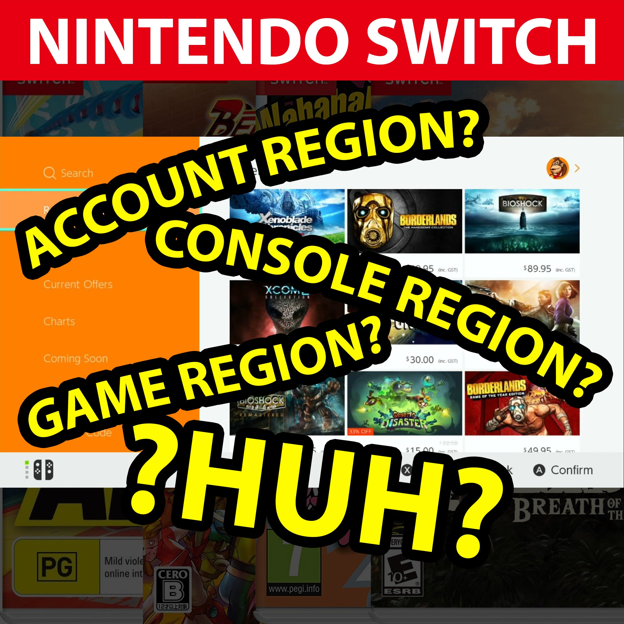 Nintendo Switch – Account Region, Console Region, Game Region… Huh?