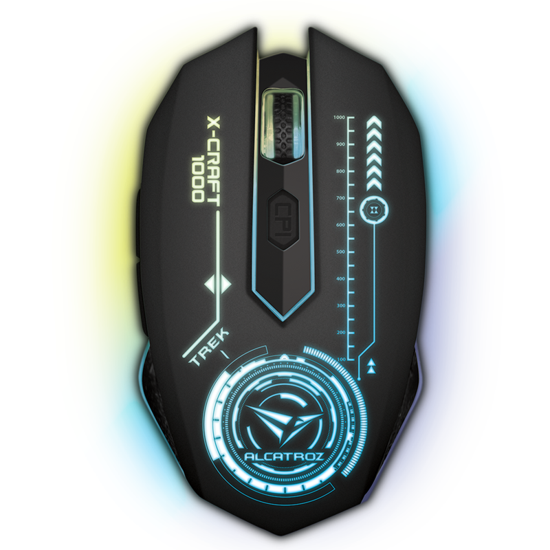 Alcatroz Gaming Mouse X-Craft AIR Trek 1000