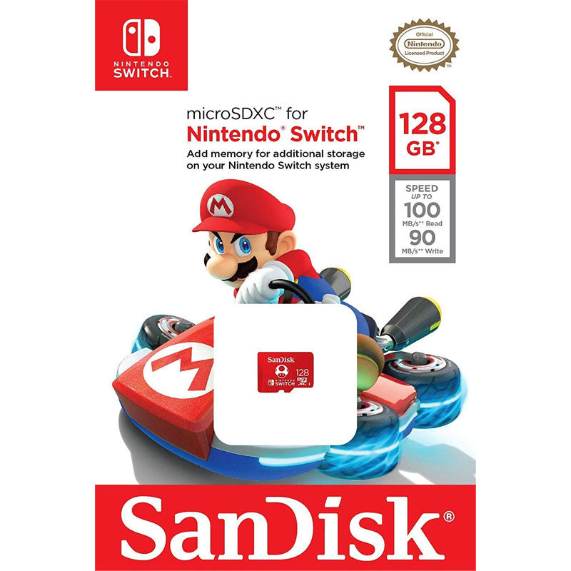 SanDisk 128GB microSDXC Card for the Nintendo Switch (Mario Edition)