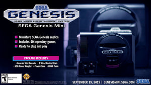 SEGA Genesis Mini Console with 2 Wired Controllers + 1 Year Local Warranty