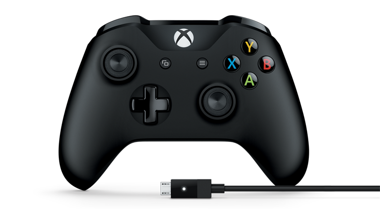XBox One Official Wireless Controller with Bluetooth + Cable for Windows