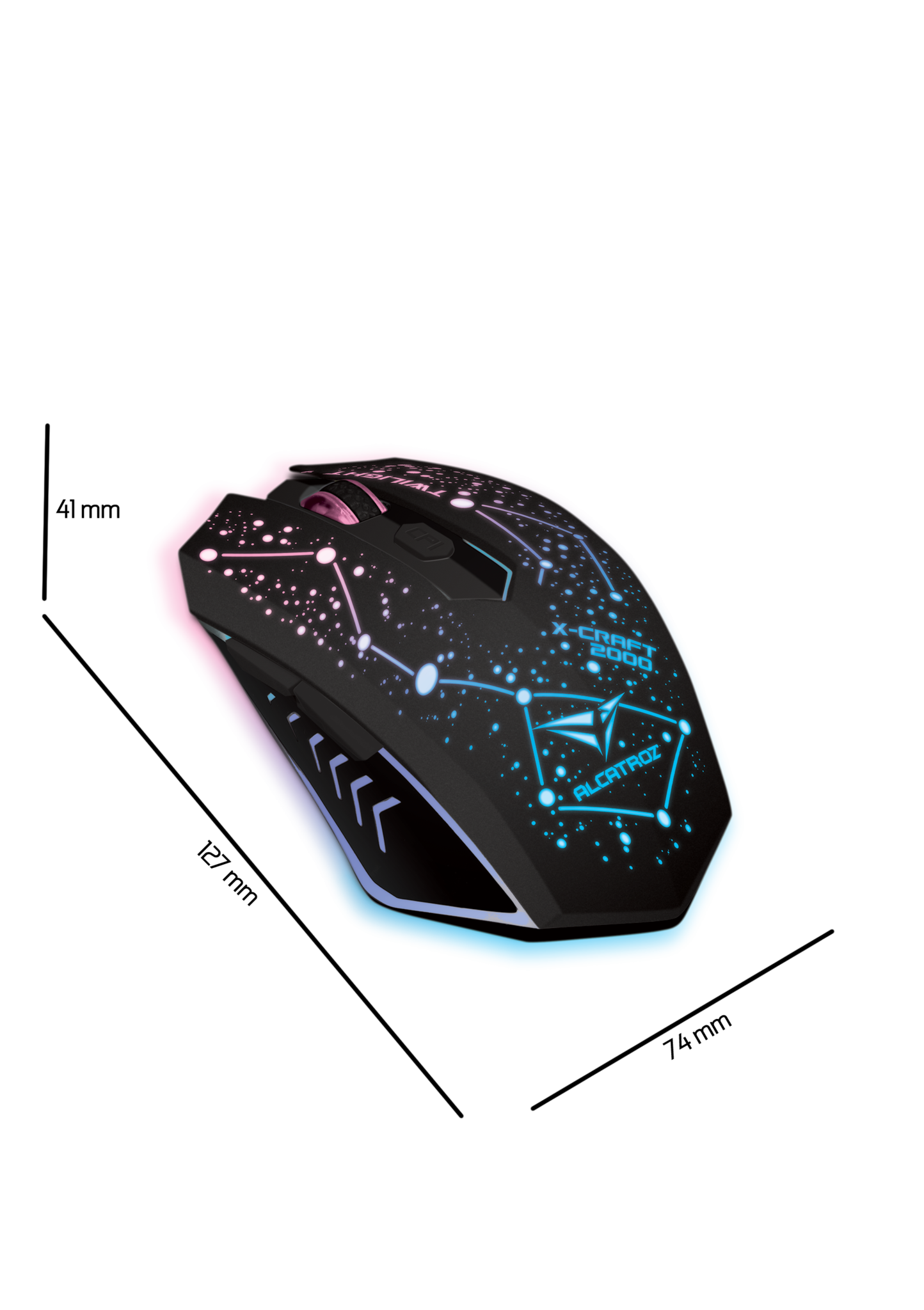 Alcatroz Gaming Mouse X-Craft AIR Twilight 2000