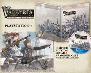 PS4 Valkyria Chronicles Remastered Special Edition with Squad 7 Armored Case