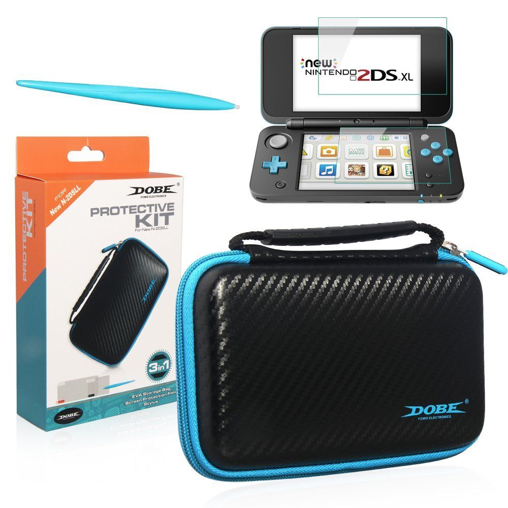 3 in 1 Protective Kit for New Nintendo 2DS XL