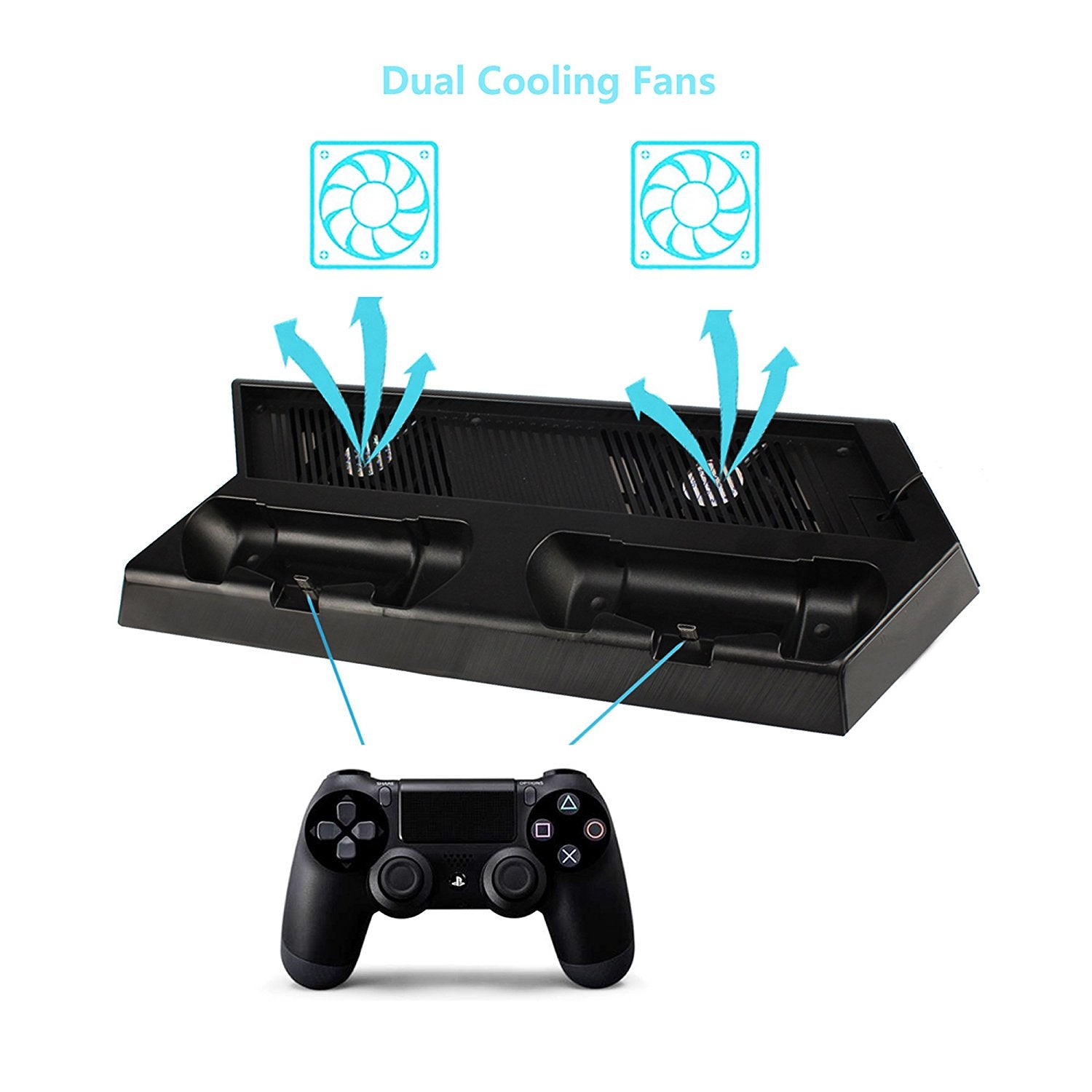 Dobe Charging Stand For Ps4 Slim Pro Dual Dock