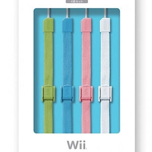 Wii NINTENDO Official Remote Wrist Strap (4 Colours Set)