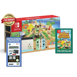 Nintendo Switch Gen 2 LE Console + Animal Crossing Game
